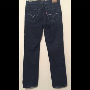 Levi's 505 straight leg embroidered jeans
